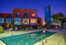 Ice House Loft Pool Area Amenities