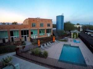 Ice House Lofts Building and Swimming Pool